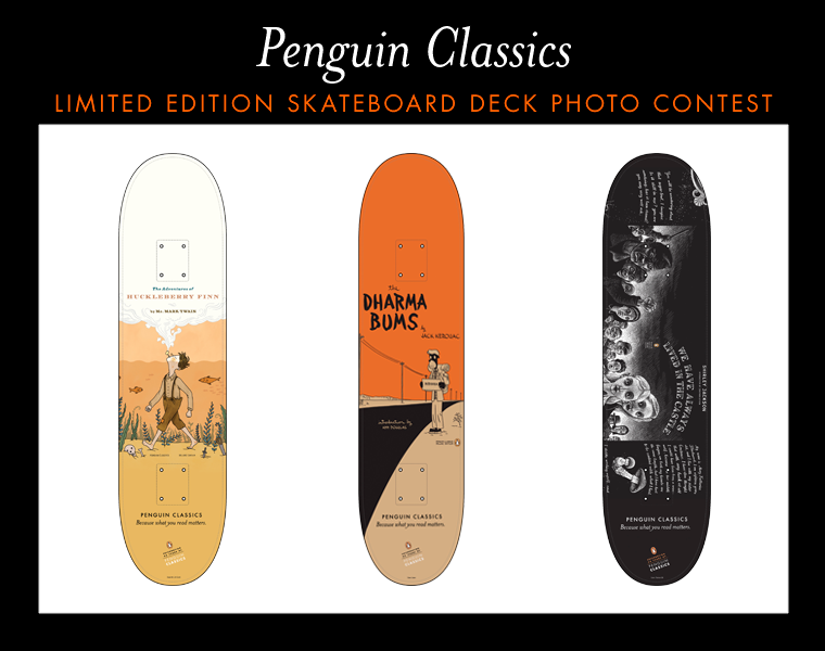 Penguin Book Cover Competition Previous Winners : Penguin classics skateboard photo contest schuler books